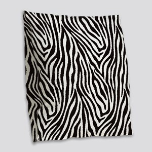 Zebra Burlap Throw Pillow