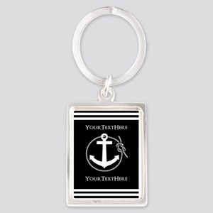 Personalized Black and White Anc Portrait Keychain