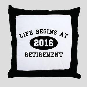 Life Begins At Retirement Throw Pillow
