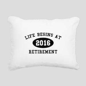 Life Begins At Retirement Rectangular Canvas Pillo