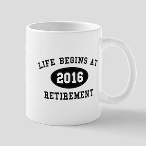 Life Begins At Retirement Mug