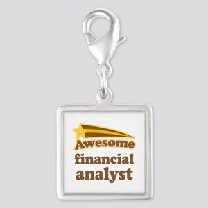 Awesome Financial Analyst Silver Square Charm