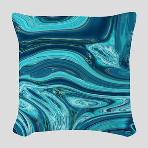 modern swirls Woven Throw Pillow