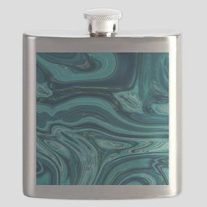 modern swirls Flask