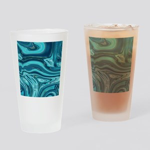 modern swirls Drinking Glass