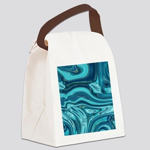 modern swirls Canvas Lunch Bag