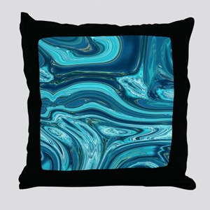 modern swirls Throw Pillow