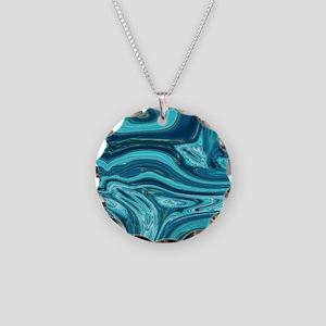 modern swirls Necklace Circle Charm