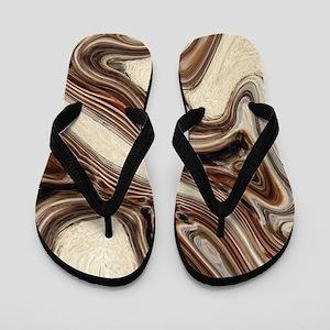 modern swirls Flip Flops