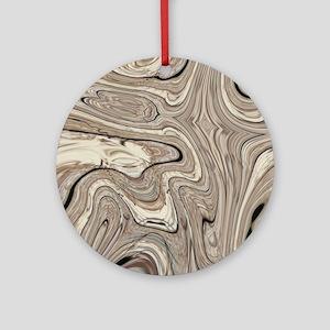 modern swirls Round Ornament