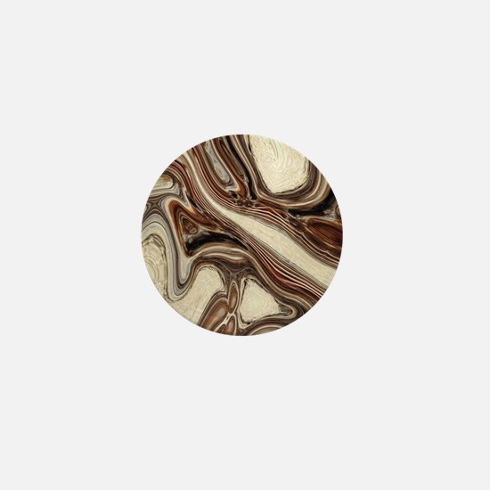 modern swirls Mini Button