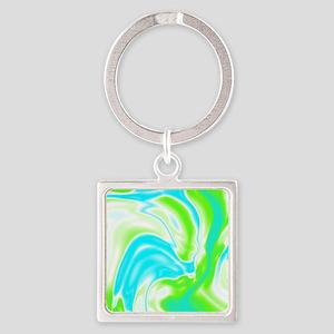 modern swirls Square Keychain