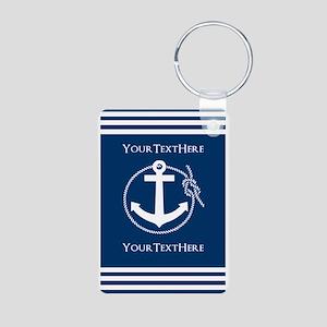 Nautical Anchor Personaliz Aluminum Photo Keychain