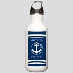 Nautical Anchor Person Stainless Water Bottle 1.0L