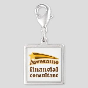 Financial Consultant Silver Square Charm