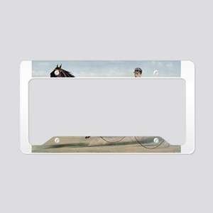 larness racing art License Plate Holder