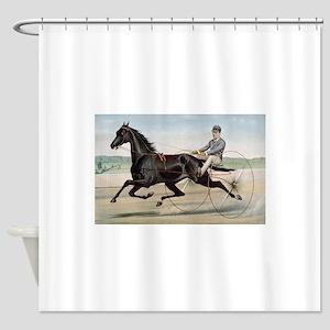 larness racing art Shower Curtain