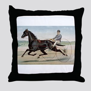 larness racing art Throw Pillow