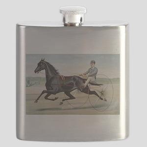 larness racing art Flask