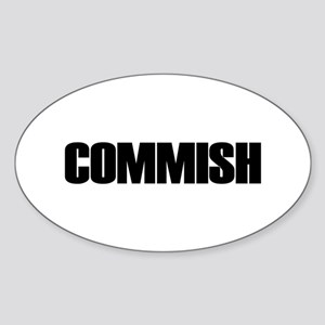 COMMISH Oval Sticker