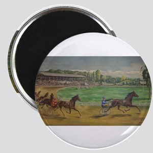 larness racing art Magnets