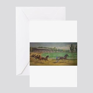 larness racing art Greeting Cards