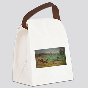 larness racing art Canvas Lunch Bag