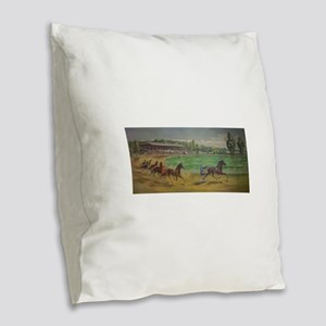 larness racing art Burlap Throw Pillow