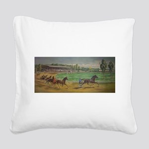larness racing art Square Canvas Pillow