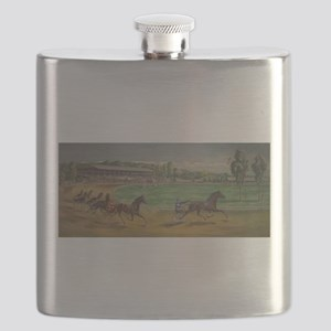 larness racing art Flask
