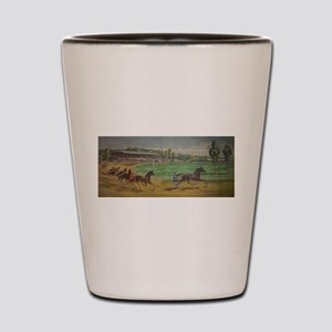 larness racing art Shot Glass
