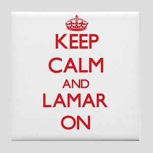 Keep Calm and Lamar ON Tile Coaster