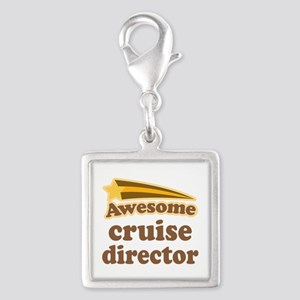 Awesome Cruise Director Silver Square Charm