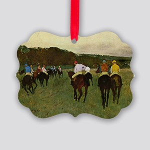degas horse racing art Ornament