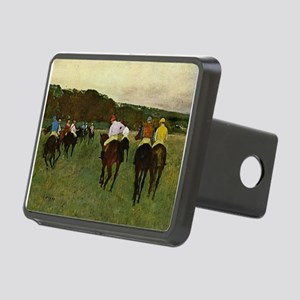 degas horse racing art Hitch Cover