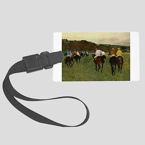 degas horse racing art Luggage Tag