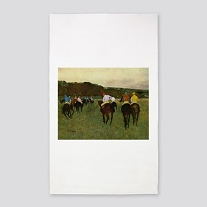 degas horse racing art Area Rug