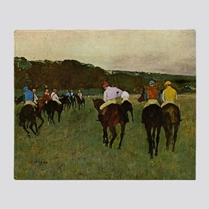 degas horse racing art Throw Blanket