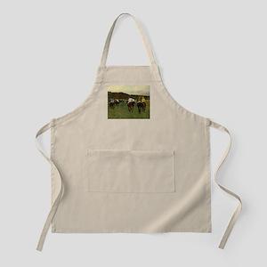 degas horse racing art Apron
