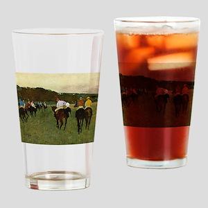 degas horse racing art Drinking Glass