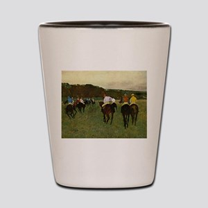 degas horse racing art Shot Glass