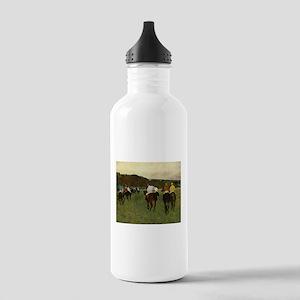degas horse racing art Water Bottle