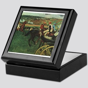 degas horse racing art Keepsake Box