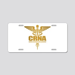 CRNA gold Aluminum License Plate