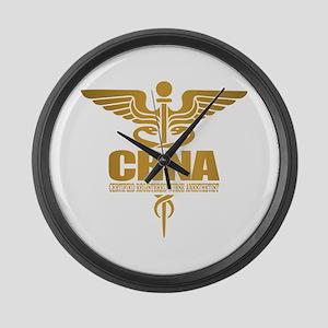 CRNA gold Large Wall Clock