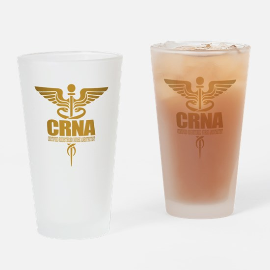 CRNA gold Drinking Glass
