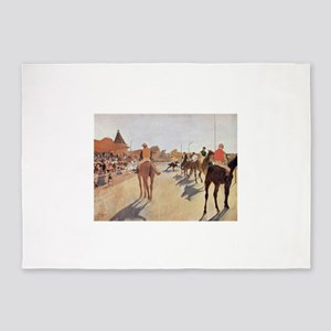 degas horse racing art 5'x7'Area Rug