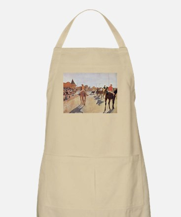 degas horse racing art Apron
