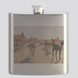 degas horse racing art Flask