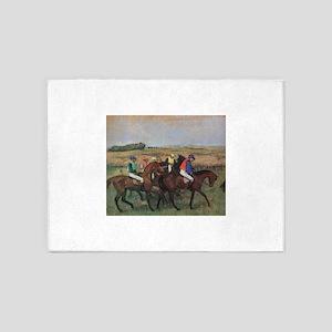 degas horse racing art 5'x7'Area Rug